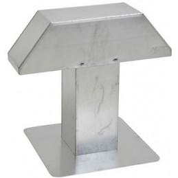 Passage de toiture 200 x 200 mm aluminium 2 sorties