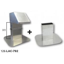 Kit passage de toiture réglable sortie 250 x 125 mm