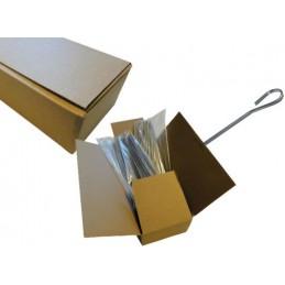 400 piques à brochettes plates inox 250 mm