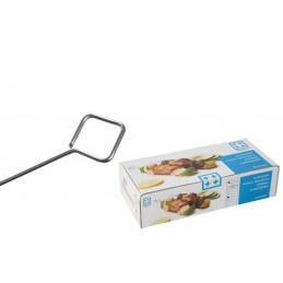 200 piques à brochettes rondes inox 150 mm