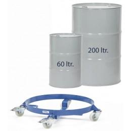Rouleur de fûts charge 250 kg avec futs 200 ou 60 litres.