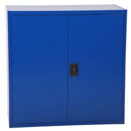 Armoire basse hauteur 900 mm porte couleur bleu.