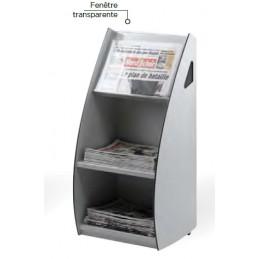 Présentoir mobile distributeur 2 cases largeur 47 cm