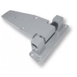 Charnière à rampe gauche laquée gris décalage 52 mm