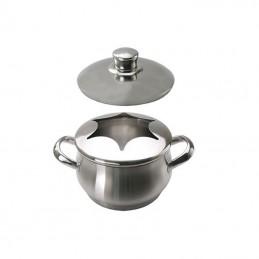 Caquelon inox pour fondue bourguignonne 1.6 litre