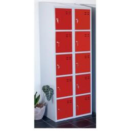 Vestiaires de rangement de 4 à 10 casiers rouge