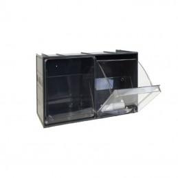 Bloc tiroir 2 godets basculants 600 x 240 mm
