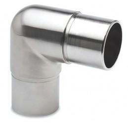 Raccord inox en L pour tube de diamètre 50 mm