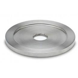 Rosace inox avec trou de 10 mm pour tube 50 mm