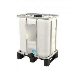 Conteneur IBC certifié UN 300 litres sur palette plastique.