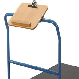 Tablette écritoire horizontale pour chariot manuel