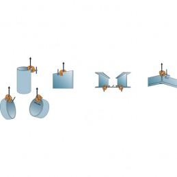 Pince de levage à visser polyvalente : différentes utilisations.