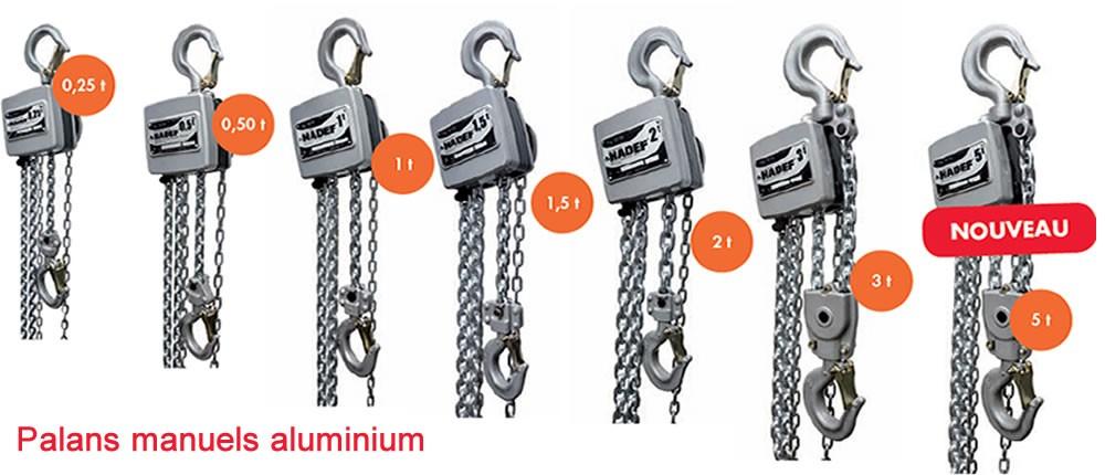 Palan manuels à chaîne aluminium